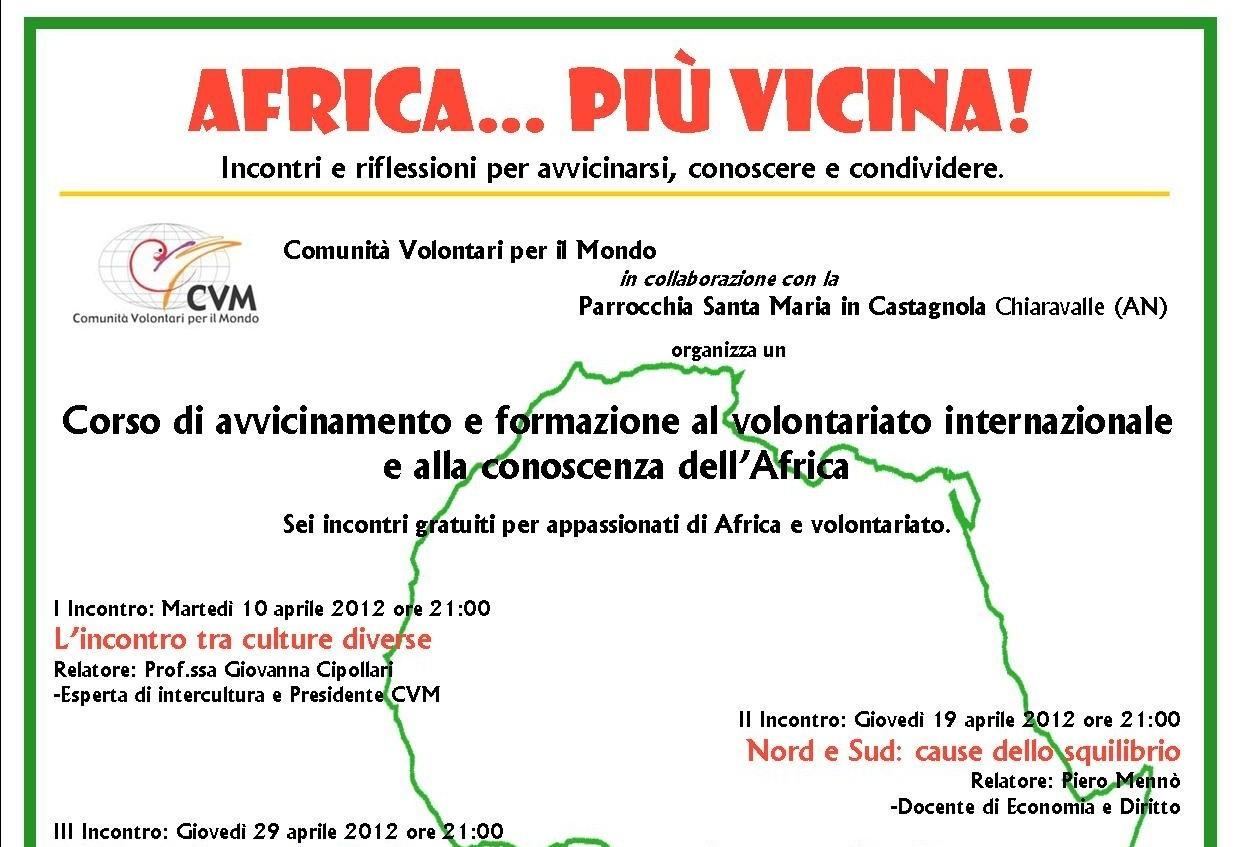 AFRICA… PIU' VICINA! Corso di formazione al volontariato internazionale – Chiaravalle (AN)