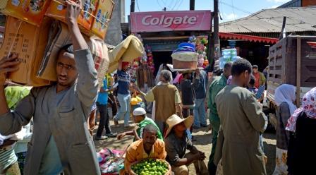 Mercato ad Adis Abeba
