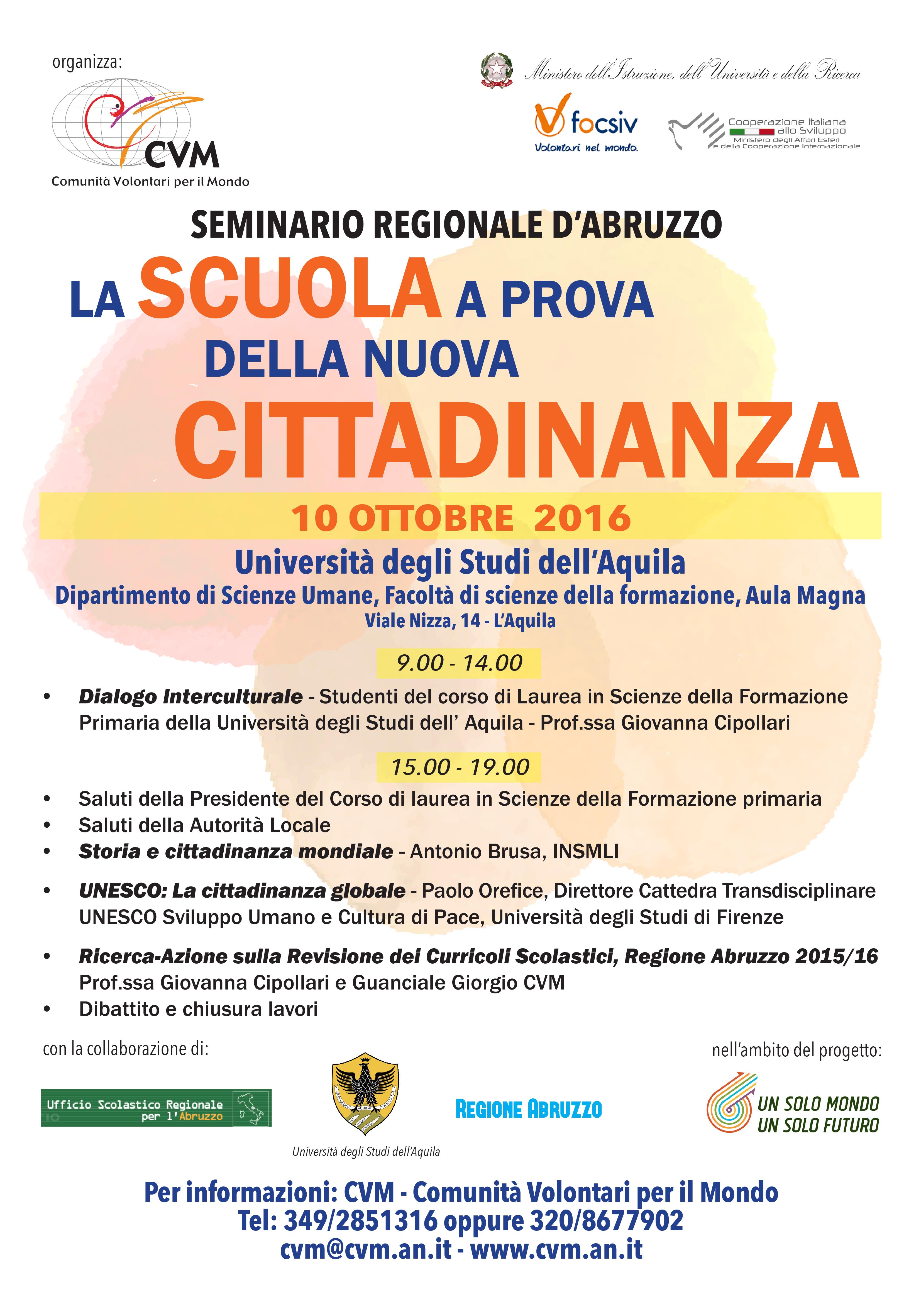 Partecipa al Seminario Regionale D'Abruzzo il 10 ottobre